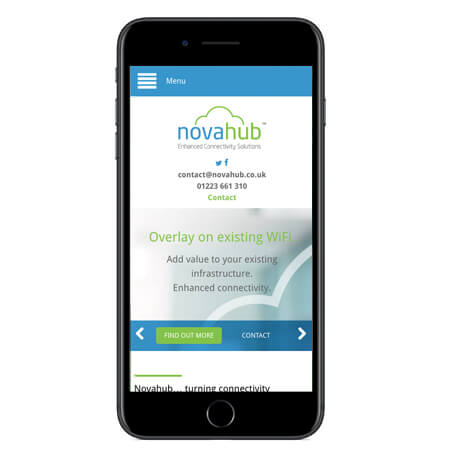 Customers access the Novahub app over your WiFi